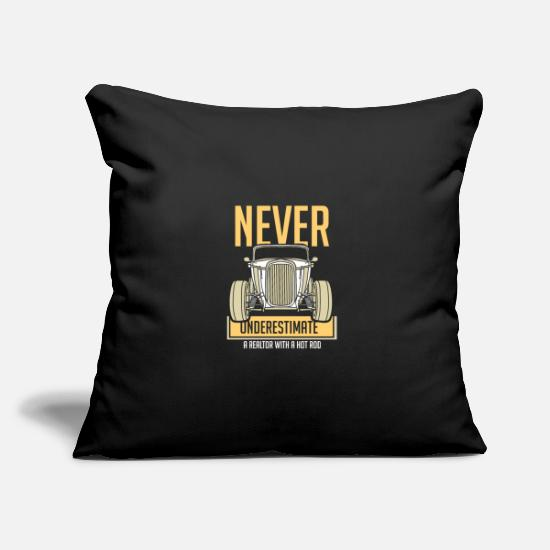 Real Estate Pillow Cases - Vintage Real Estate - Pillowcase 17,3'' x 17,3'' (45 x 45 cm) black