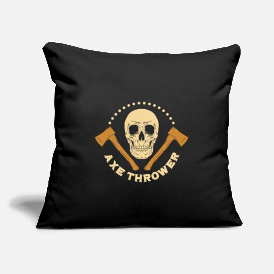 Gift Idea Pillow Cases - Ax throw gift - Pillowcase 17,3'' x 17,3'' (45 x 45 cm) black