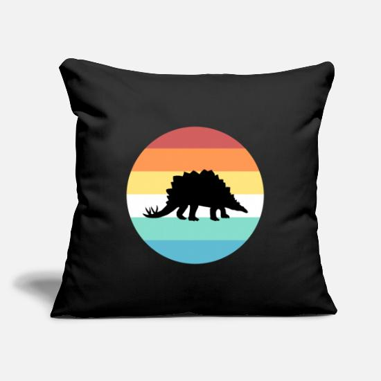 Christmas Present Pillow Cases - Stegosaurus - Pillowcase 17,3'' x 17,3'' (45 x 45 cm) black