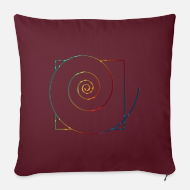 Healing Power spiral in square 3 - Pillowcase 17,3'' x 17,3'' (45 x 45 cm)