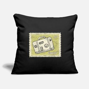 Stamp Collecting Traveler stamp collection - Pillowcase 17,3'' x 17,3'' (45 x 45 cm)