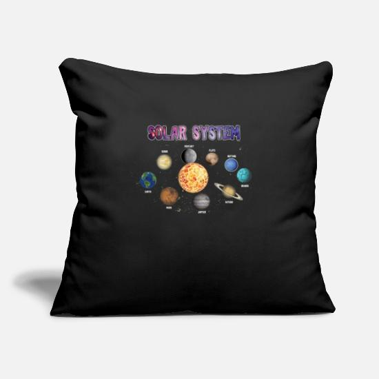 Planet Pillow Cases - Stars Universe Planets Outerspace Gift Solar - Pillowcase 17,3'' x 17,3'' (45 x 45 cm) black