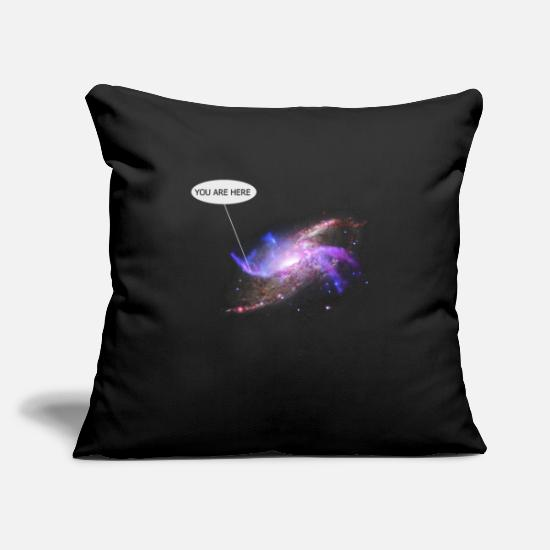 Cool Pillow Cases - Nebula Galaxy Outer Space Milkyway Rocketship - Pillowcase 17,3'' x 17,3'' (45 x 45 cm) black