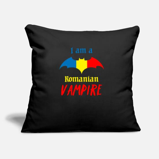 Romanian Pillow Cases - Romanian Vampire Halloween - Pillowcase 17,3'' x 17,3'' (45 x 45 cm) black
