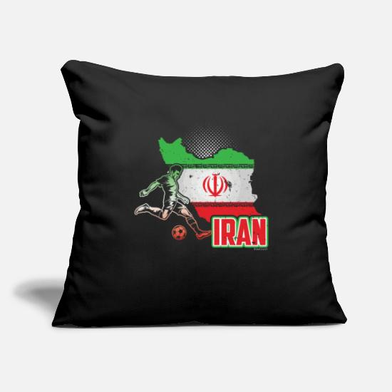 Birthday Present Pillow Cases - Football Worldcup Iran Iranians Soccer Team - Pillowcase 17,3'' x 17,3'' (45 x 45 cm) black