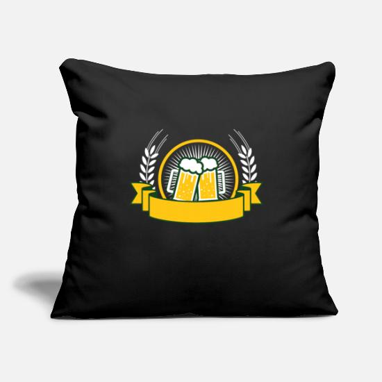 Alcohol Pillow Cases - Beer banner - Pillowcase 17,3'' x 17,3'' (45 x 45 cm) black
