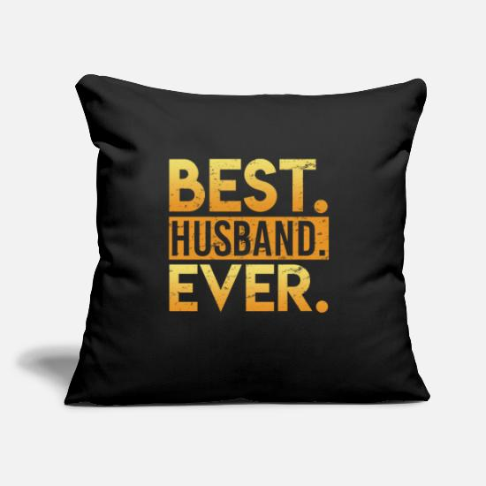 Marriage Pillow Cases - The best husband - Pillowcase 17,3'' x 17,3'' (45 x 45 cm) black