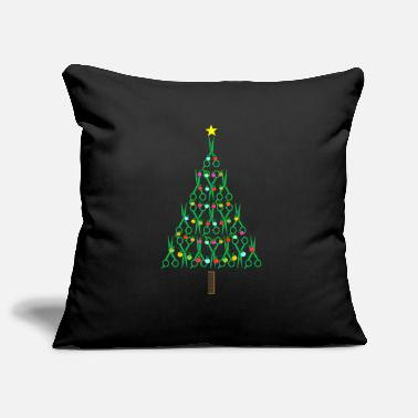 Haircutter Barber Christmas Tree Haircutter Stylist Gift - Pillowcase 17,3'' x 17,3'' (45 x 45 cm)