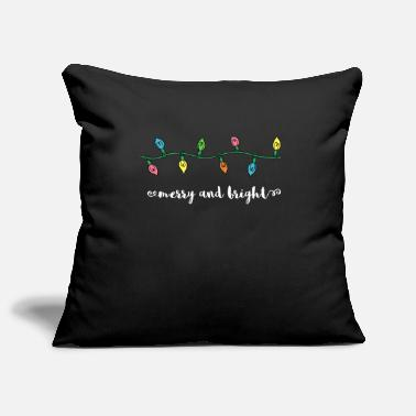Occasion Merry And Bright Merry Christmas Lights Gift - Pillowcase 17,3'' x 17,3'' (45 x 45 cm)
