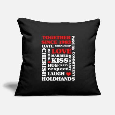 37 1983 Together Since 37 th Anniversary Gift - Pillowcase 17,3'' x 17,3'' (45 x 45 cm)