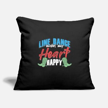 Dancer Line Dance Makes My Heart Happy Country Music Gift - Pillowcase 17,3'' x 17,3'' (45 x 45 cm)