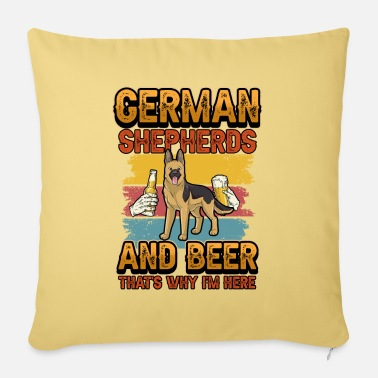 Meadow German shepherd beer funny saying gift - Pillowcase 17,3'' x 17,3'' (45 x 45 cm)