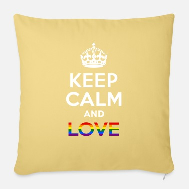 Sultry Keep Calm And Love - Gay -EN - Pillowcase 17,3'' x 17,3'' (45 x 45 cm)
