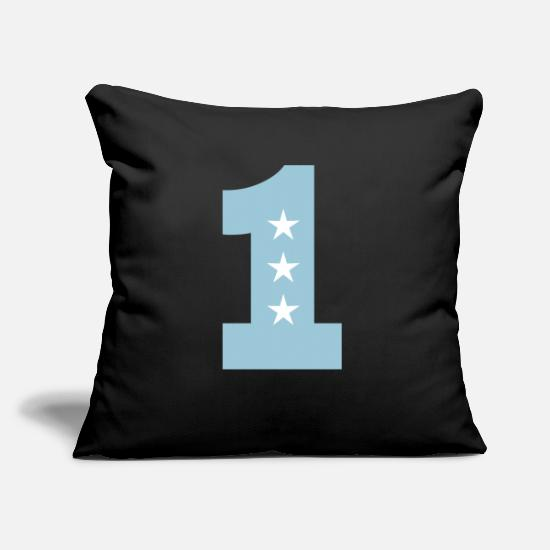 Star Pillow Cases - 1 One birthday 1st birthday first One T-Shirt - Pillowcase 17,3'' x 17,3'' (45 x 45 cm) black