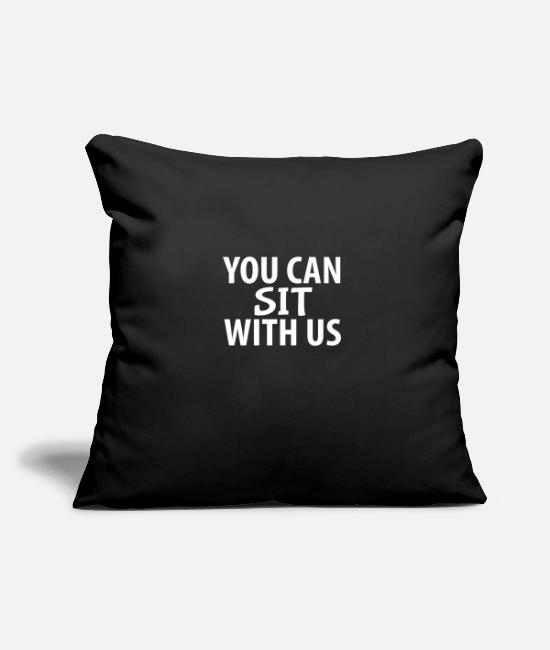 Christmas Pillow Cases - YOU CAN SIT WITH US - Pillowcase 17,3'' x 17,3'' (45 x 45 cm) black