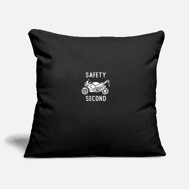 Safety Second funny design for Motorcycle lovers - Pillowcase 17,3'' x 17,3'' (45 x 45 cm)
