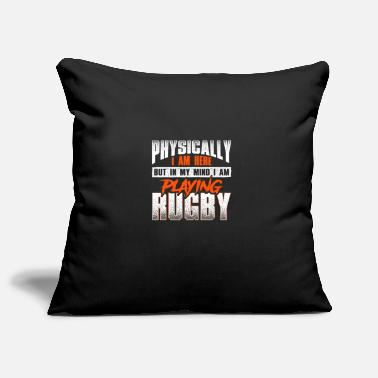 Crazy rugby saying - rugby - Pillowcase 17,3'' x 17,3'' (45 x 45 cm)