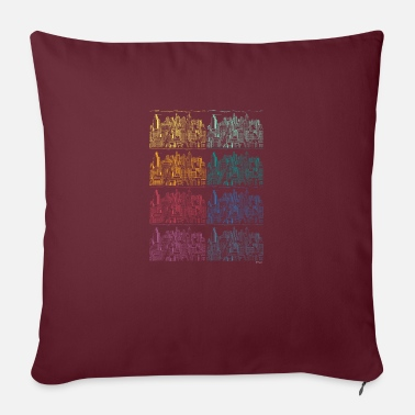 Neighborhood City copy rainbow houses colors not urban - Pillowcase 17,3'' x 17,3'' (45 x 45 cm)