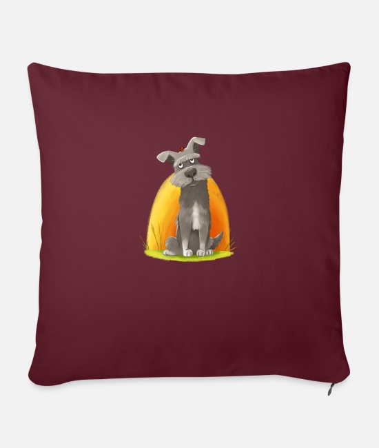 Luck Pillow Cases - Search the ladybird - Pillowcase 17,3'' x 17,3'' (45 x 45 cm) burgundy