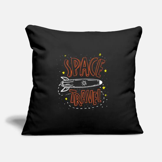 Astronaut Pillow Cases - Space Travel - Pillowcase 17,3'' x 17,3'' (45 x 45 cm) black