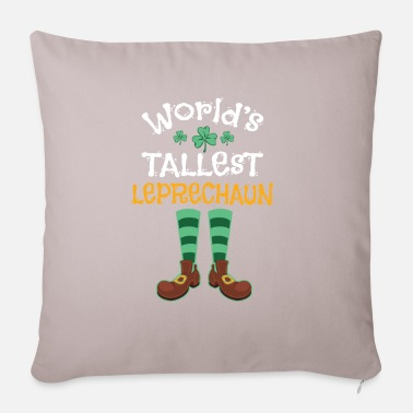 Clover World's tallest leprechaun Funny Quote Design - Pillowcase 17,3'' x 17,3'' (45 x 45 cm)
