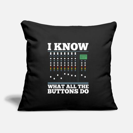 Sound Pillow Cases - sound engineer - Pillowcase 17,3'' x 17,3'' (45 x 45 cm) black