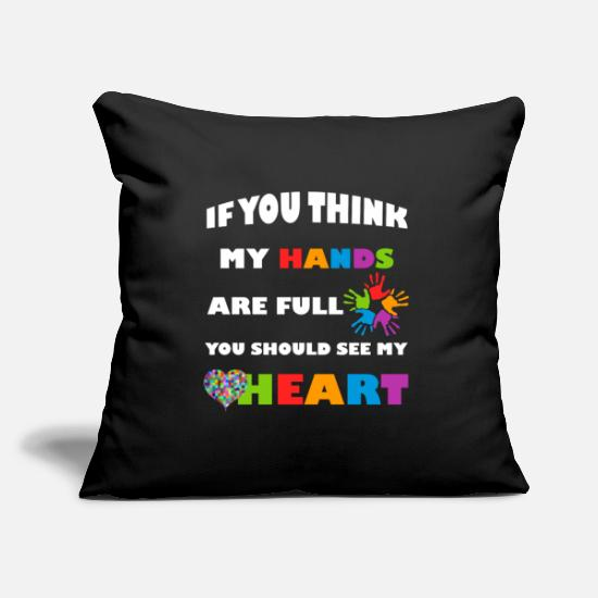 Man Pillow Cases - Autism Awareness - Pillowcase 17,3'' x 17,3'' (45 x 45 cm) black
