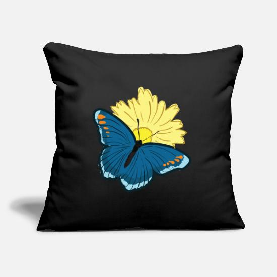 Gift Idea Pillow Cases - Butterfly Butterfly Wing Butterfly - Pillowcase 17,3'' x 17,3'' (45 x 45 cm) black