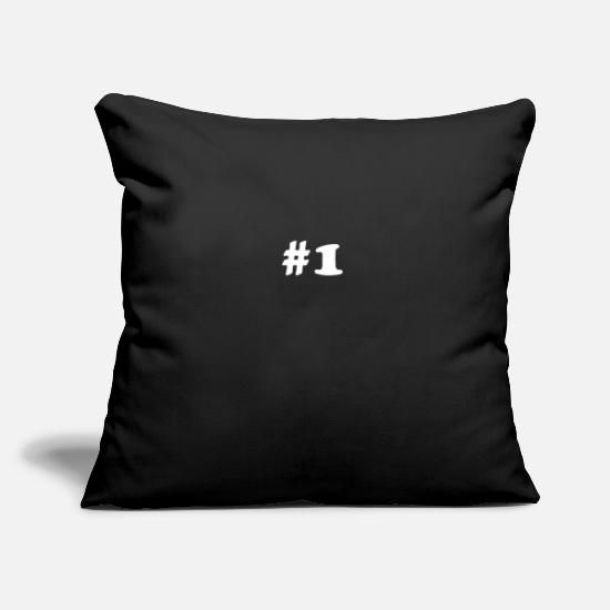 Gift Idea Pillow Cases - hashtag number 1 - Pillowcase 17,3'' x 17,3'' (45 x 45 cm) black