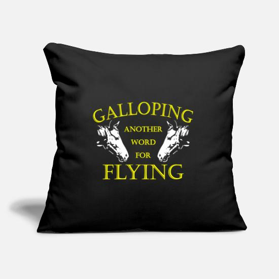 Gallop Pillow Cases - Horse gallop ride gift - Pillowcase 17,3'' x 17,3'' (45 x 45 cm) black