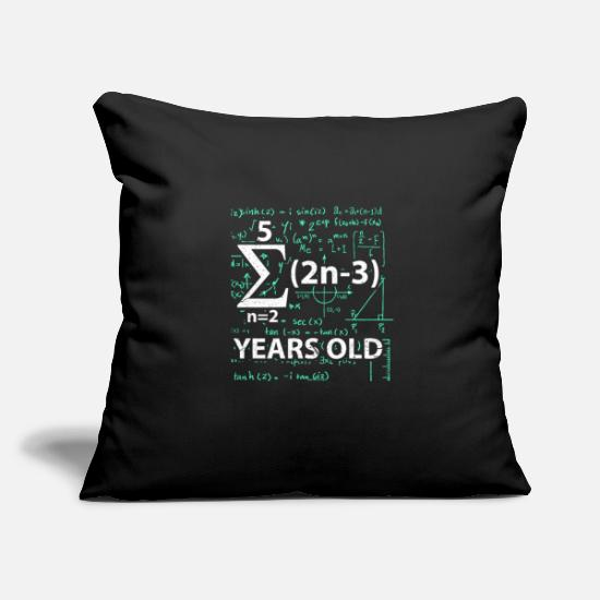Birthday Pillow Cases - 16th birthday math - Pillowcase 17,3'' x 17,3'' (45 x 45 cm) black