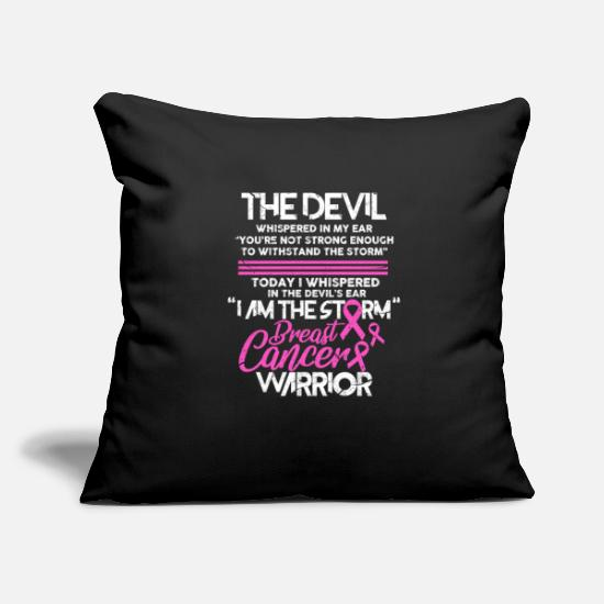Chemo Pillow Cases - Breast Cancer Breast Cancer Run Breast Cancer Gift - Pillowcase 17,3'' x 17,3'' (45 x 45 cm) black