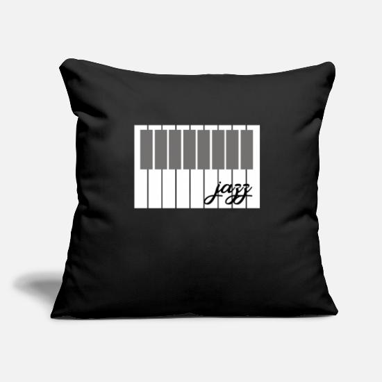 Jazz Pillow Cases - jazz - Pillowcase 17,3'' x 17,3'' (45 x 45 cm) black