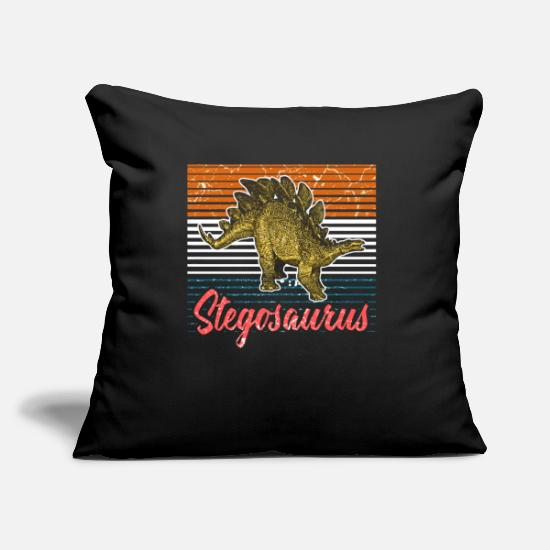 Birthday Pillow Cases - Stegosaurus dinosaur - Pillowcase 17,3'' x 17,3'' (45 x 45 cm) black