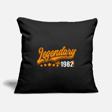 Félicitations Legendary since 1982, orange - Housse de coussin