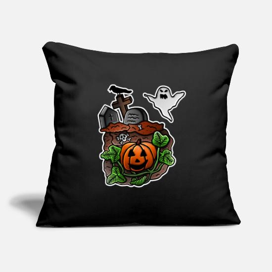 Blood Suckers Pillow Cases - Halloween, graveyard, ghost, tombstone, skull - Pillowcase 17,3'' x 17,3'' (45 x 45 cm) black