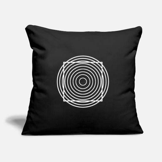 Illustration Pillow Cases - Optical Illusion Black White Gift Illusion - Pillowcase 17,3'' x 17,3'' (45 x 45 cm) black