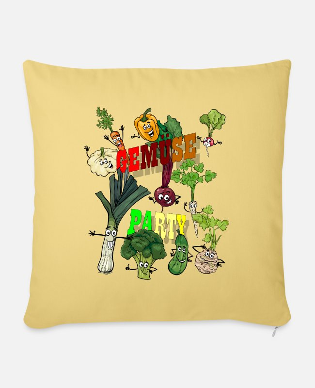 Broccoli Pillow Cases - Vegetable party - Pillowcase 17,3'' x 17,3'' (45 x 45 cm) washed yellow