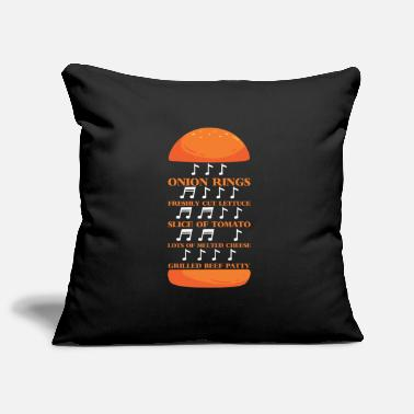 Rhythmus Rhythmus Burger Musik Noten Musiker Fast Food - Pillowcase 17,3'' x 17,3'' (45 x 45 cm)
