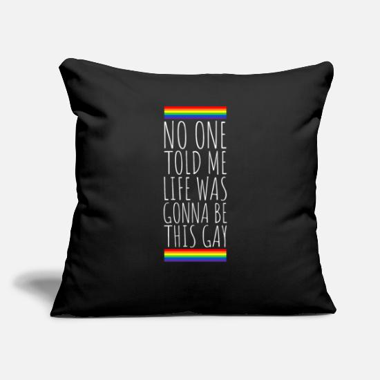 Gay Pride Pillow Cases - Gay Pride Homosexual Marriage Lesbian Bisexual Birthday - Pillowcase 17,3'' x 17,3'' (45 x 45 cm) black