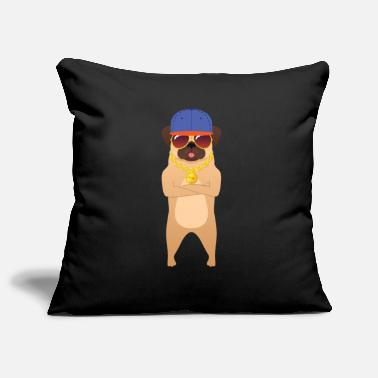 Bestseller Cool Hip Hop Pug With Sunglasses And Gold Chain - Housse de coussin