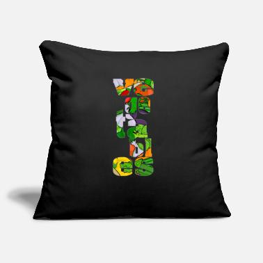 Vegetable Vegetable vegetables lettering - Pillowcase 17,3'' x 17,3'' (45 x 45 cm)