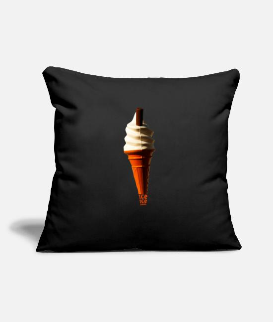 Father's Day Pillow Cases - Ice Ice Baby - Pillowcase 17,3'' x 17,3'' (45 x 45 cm) black
