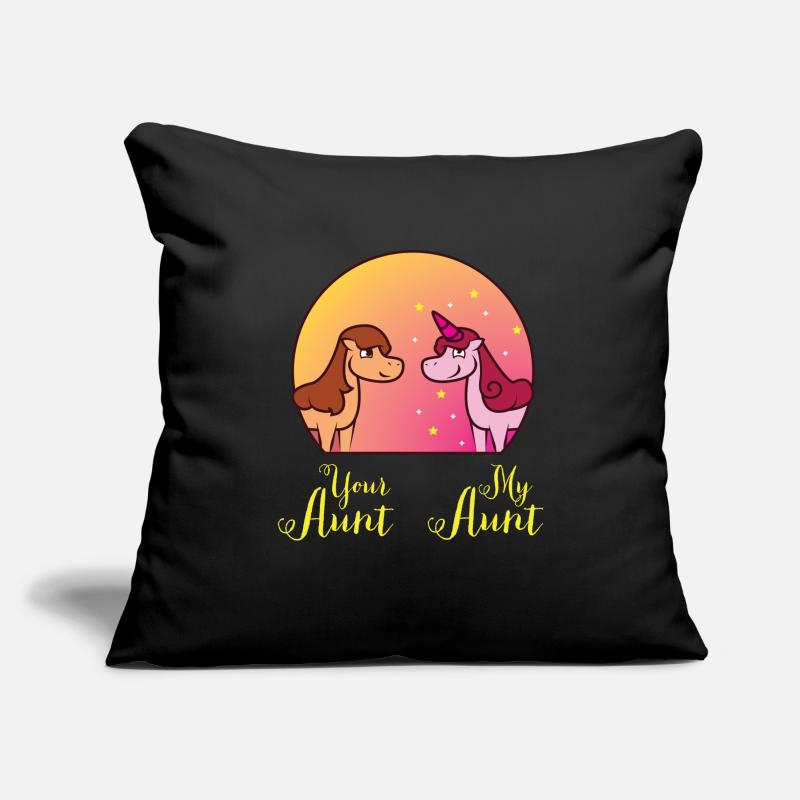 Lover Pillow Cases - Your Aunt My Aunt - Pillowcase 17,3'' x 17,3'' (45 x 45 cm) black