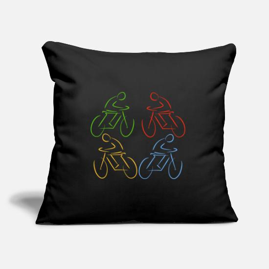 Triathlet Pillow Cases - cyclist - Pillowcase 17,3'' x 17,3'' (45 x 45 cm) black