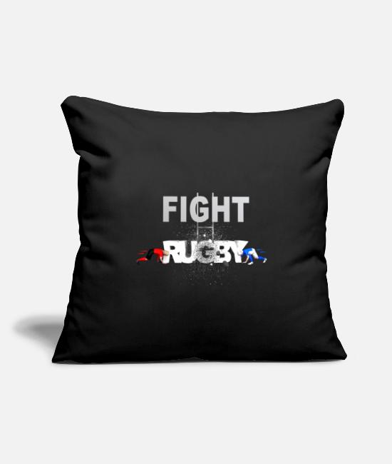 Lyon Rugby Toulousain Pillow Cases - RUGBY FIGHT RUGBY - Pillowcase 17,3'' x 17,3'' (45 x 45 cm) black