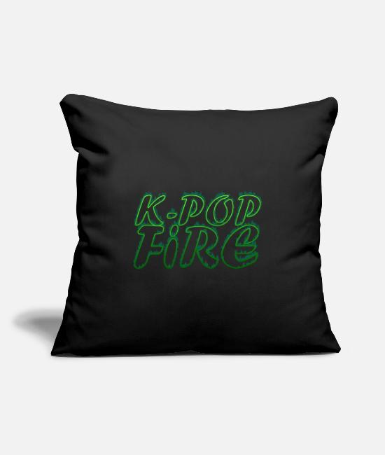 Army Pillow Cases - K-Pop Fire - Pillowcase 17,3'' x 17,3'' (45 x 45 cm) black