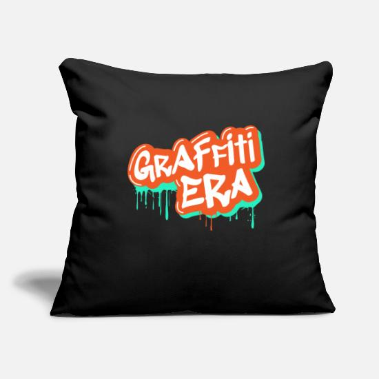 Rap Pillow Cases - Graffiti Rap Hip Hop Gift Sprayer Font - Pillowcase 17,3'' x 17,3'' (45 x 45 cm) black