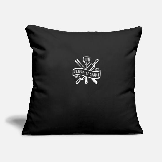 Birthday Pillow Cases - Weapons of choice white - Pillowcase 17,3'' x 17,3'' (45 x 45 cm) black