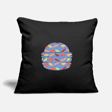 Pattern BURGER ~ pattern fast food hamburger - Pillowcase 17,3'' x 17,3'' (45 x 45 cm)